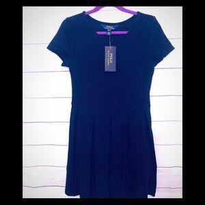 Polo Ralph Lauren Girls Navy Dress, Size M NWT